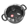 Dutch oven with glas lid