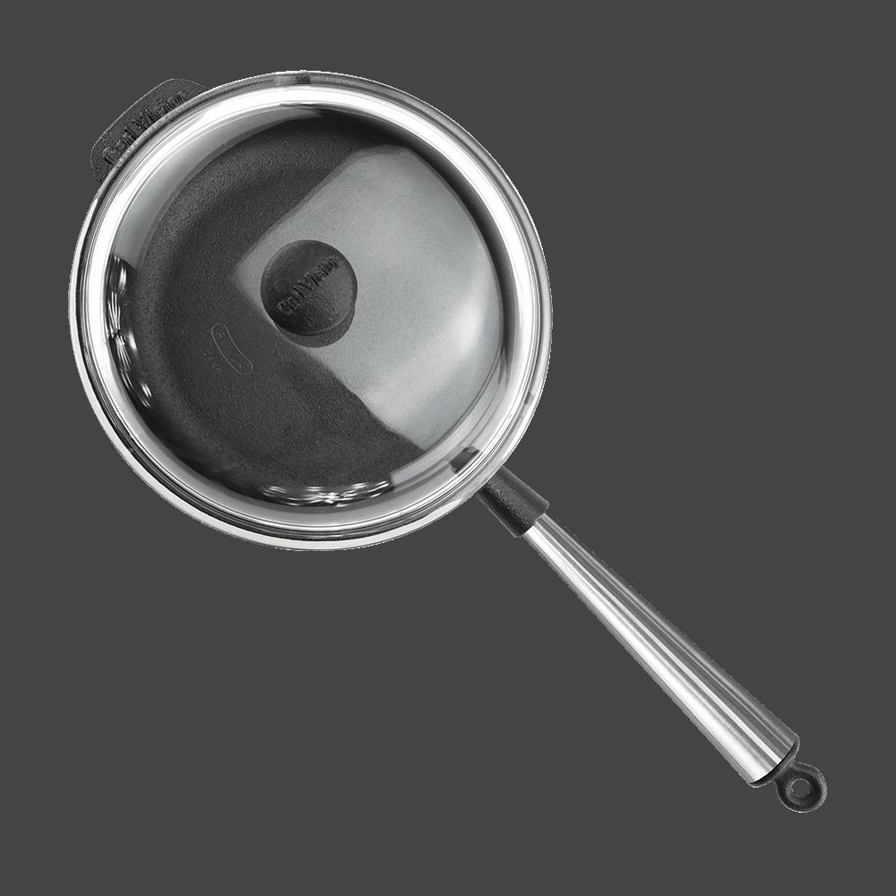 Sauterpande Støbejern 25cm Stalskaft Glaslåg