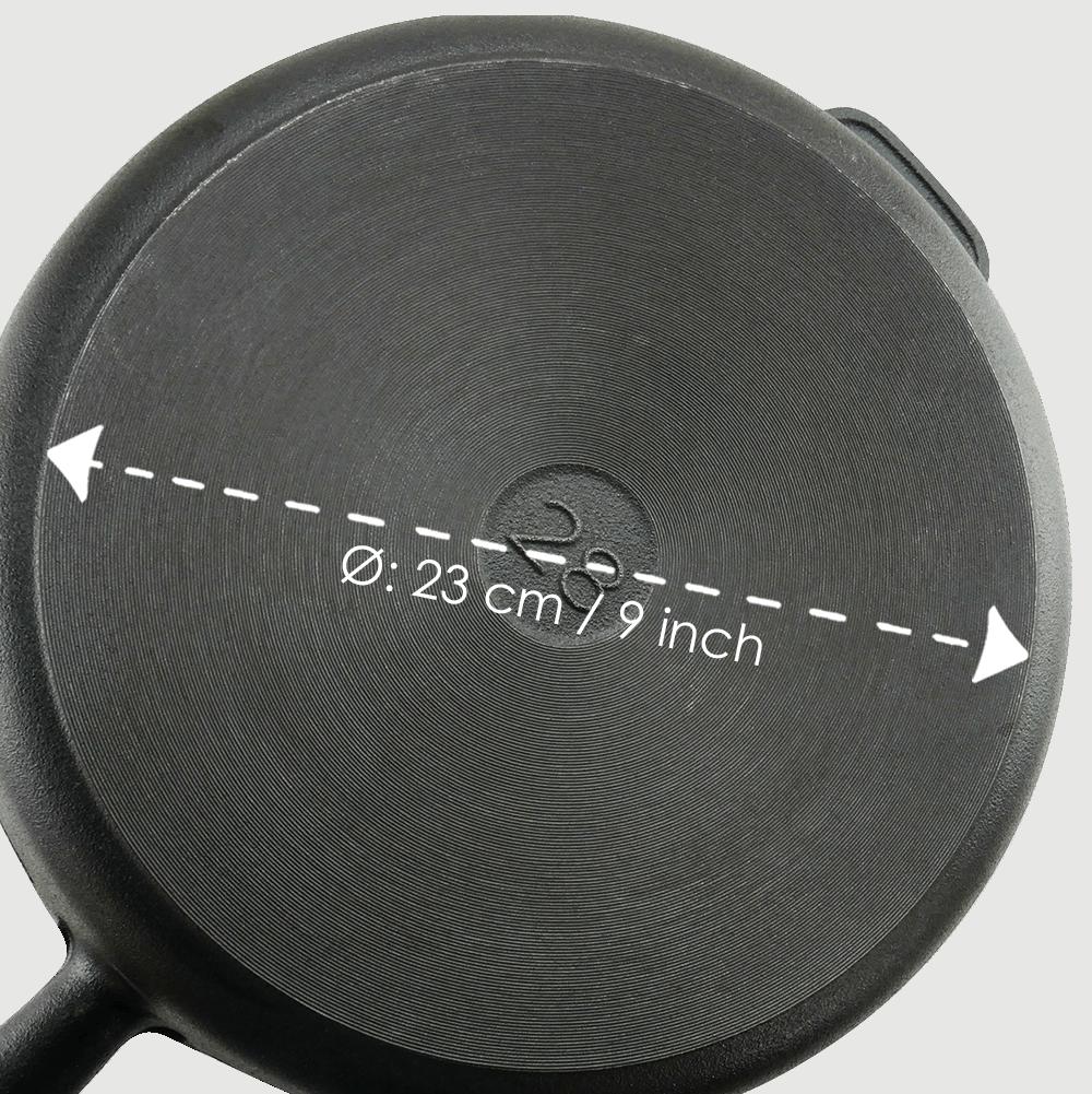 Sauterpande Støbejern 28 cm