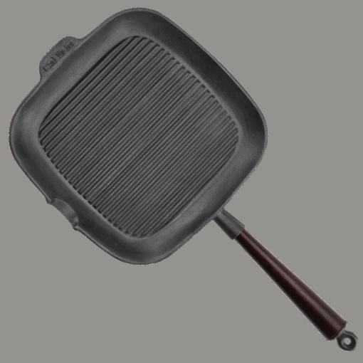 Grillpanna Gjutjärn Fyrkantig 28 cm
