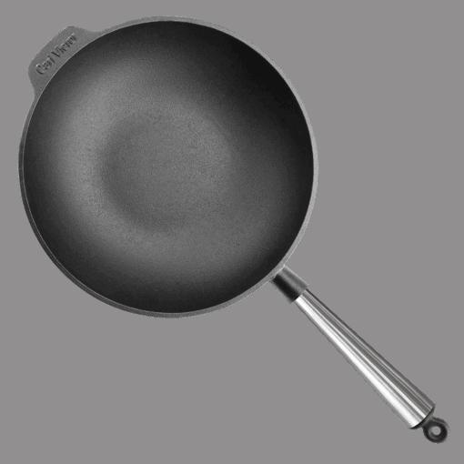 Wok Støbejern 30 cm Stalskaft