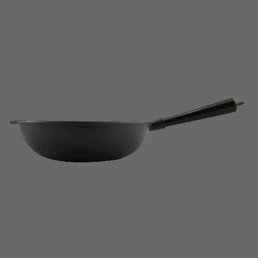 Wokpanna Gjutjärn 30 cm Trähandtag