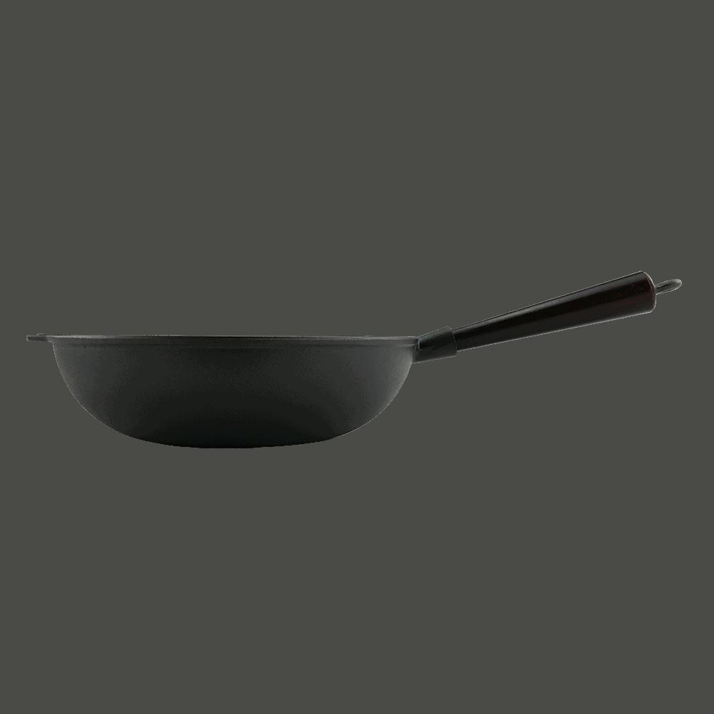 Wok Støbejern 30 cm Træskaft