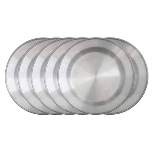 Tallrik Ø24cm Aluminium set 6 delar