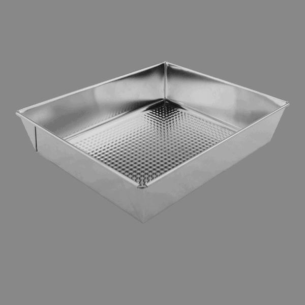 Bakform lös botten 28×23,5×6cm Bleckplåt 4,5L