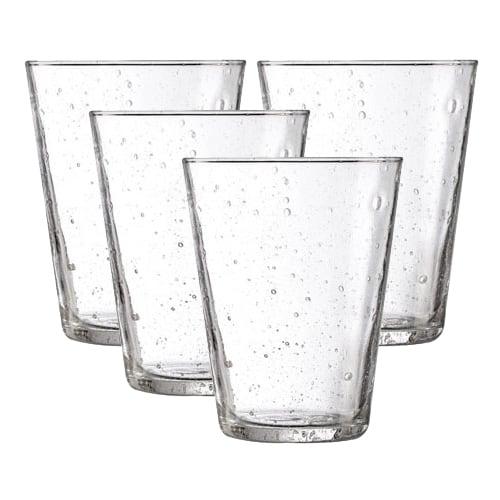 Dricksglas med luftbubblor