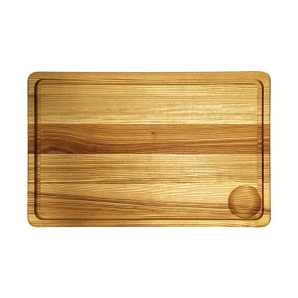 Træskærebræt Aske med Rend 40cm