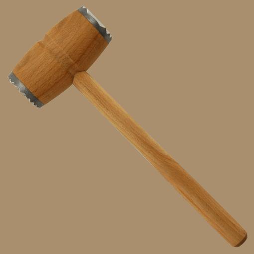 Kötthammare Trä med 2st Aluminium Beslag - Träredskap