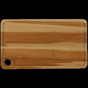 Träskärbräda med Ränna och Ögla 42x25 cm Bok