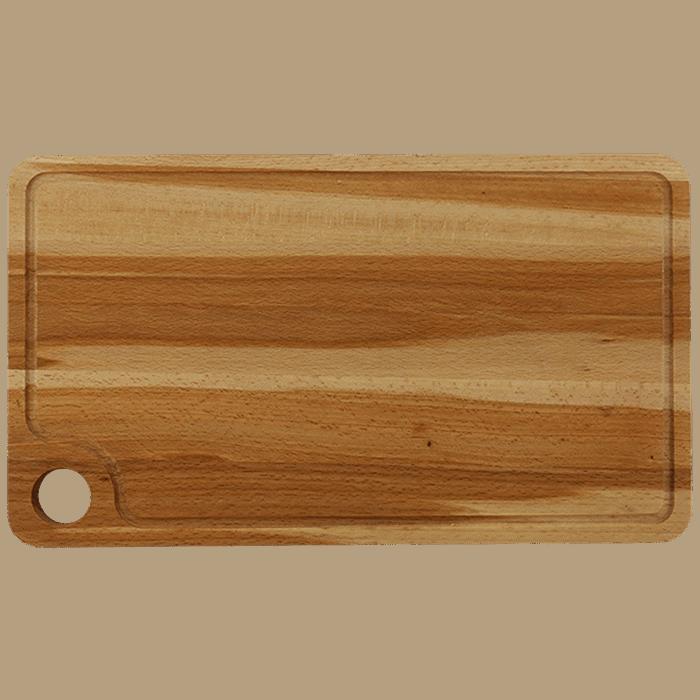 Træskærebræt med Rend 42cm