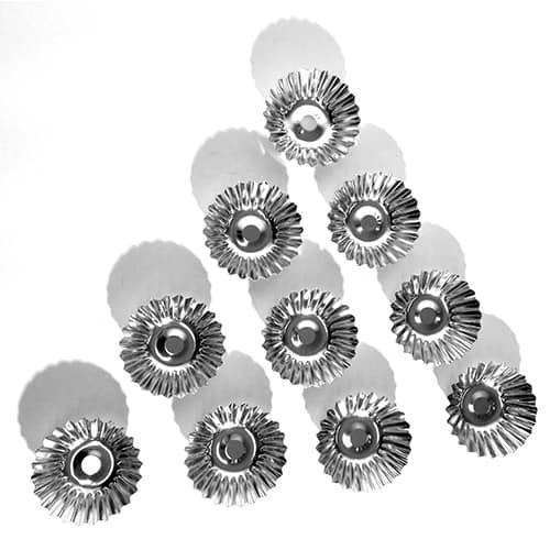 Runda Formar Mandelmusslor 7 cm Bleckplåt 10-Pack