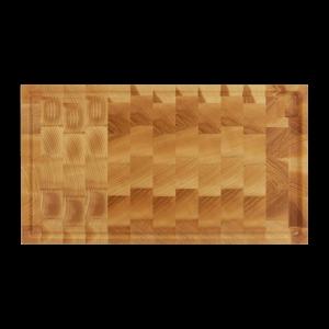 Skærebræt Eg Stavlimet med Rend 54x35cm Endetræ