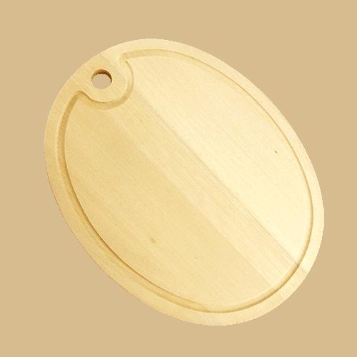 Træskærebræt Oval med Rend 37cm