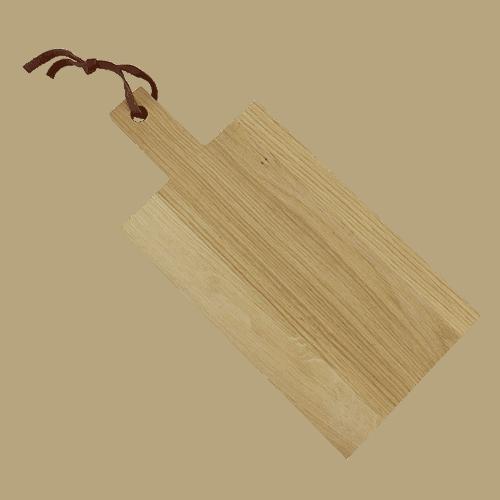 Skærebræt Eg 28cm med Skaft