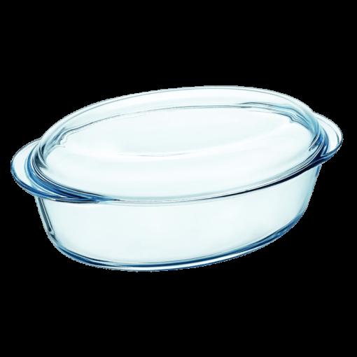 Pyrex Oval Stekgryta Glas 4L