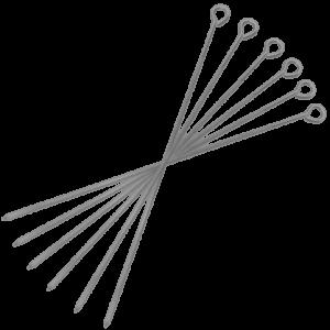 Rostfria Grillspett med Ögla 30cm 6st