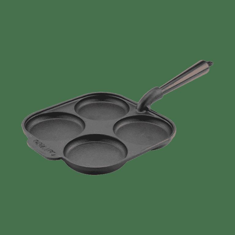Äggpanna Gjutjärn 22 cm Trähandtag